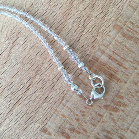 quartz necklace, embellished crystals, elegant crystal jewelry, swarovski beads,