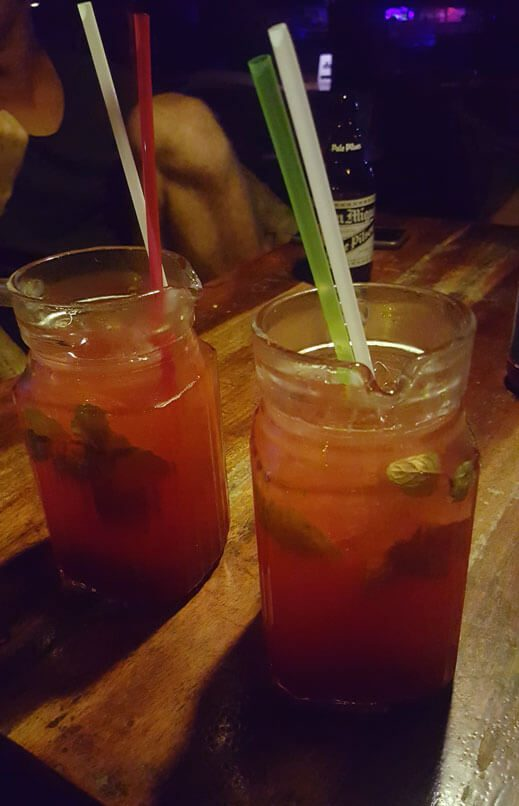 Mojitos Fraise sur la table
