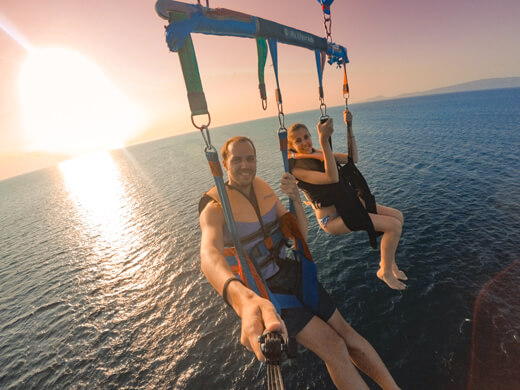 Parasailing in Puerto Galera by the sunset
