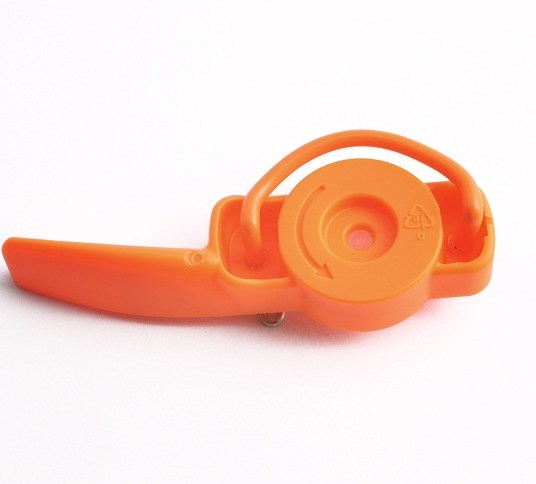 pickups orange brooch steel plastics 1