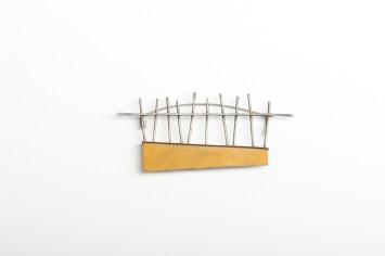 Liisa Hashimoto, brooch – silver 925′, paint