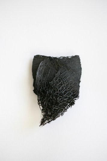Merlin Meremaa, brooch - forged steel sponge, steel wire