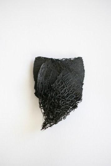 Merlin Meremaa, brooch – forged steel sponge, steel wire
