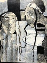 SALOME canvas, acryl, ink