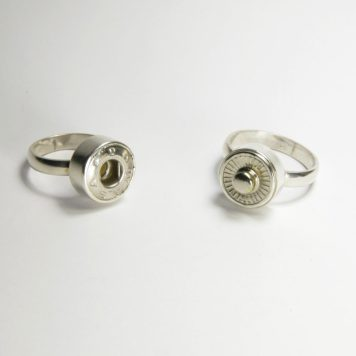 Ana Cardim, set of two rings, Complementary - silver, button