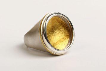 ANDRIS LAUDERS Latvia, ring – Silver 925, gold 18k, citrine