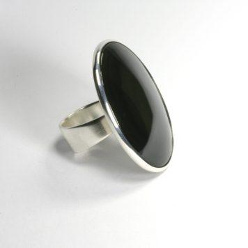 Māris Auniņš, ring - silver 925, obsidian