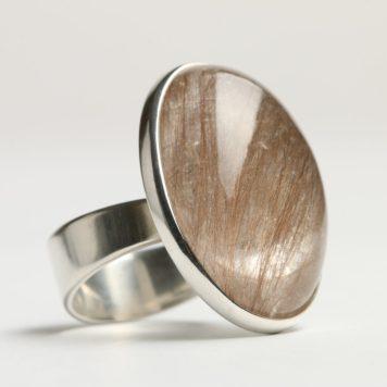 Māris Auniņš, ring - silver 925, rutilquartz