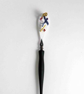 "Villu Plink, brooch ""J.T."" – Painted silver, plastic. Photo – Villu Plink"