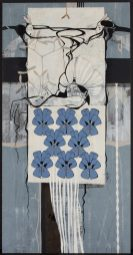 Roberts Koļcovs, Tale of violets, painting - canvas, acrylic paint, ink, graphite