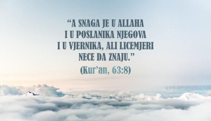 A snaga je u Allaha i Poslanika i u vjernika