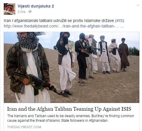 Optužbe IDIŠ-ovih medija na račun talibana