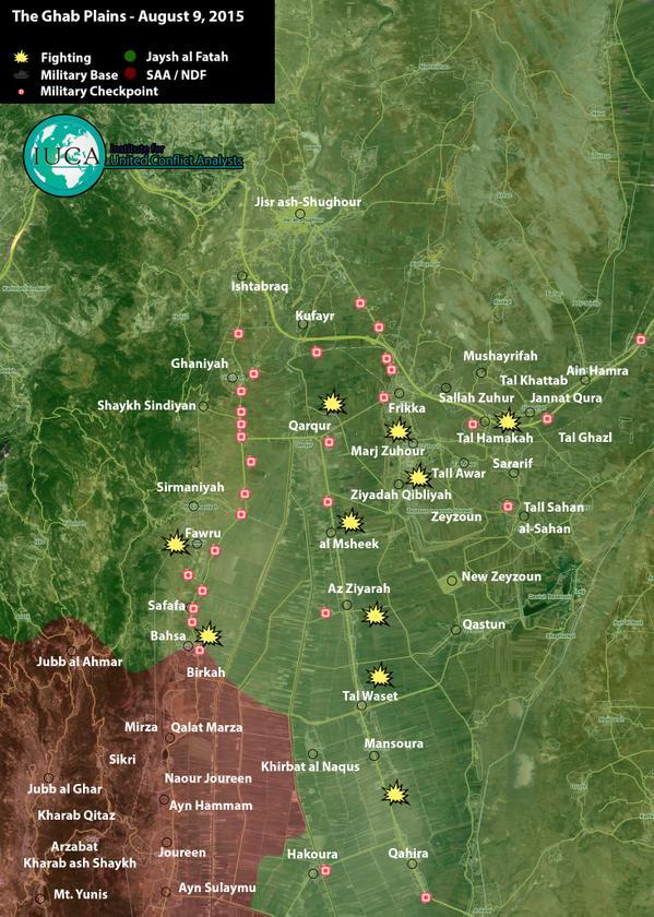 Mapa kontrole visoravni Gab za 9. august 2015