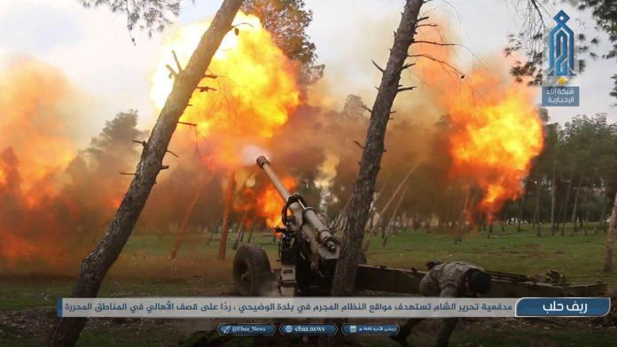 Tahriru Šam granatira neprijateljske položaje