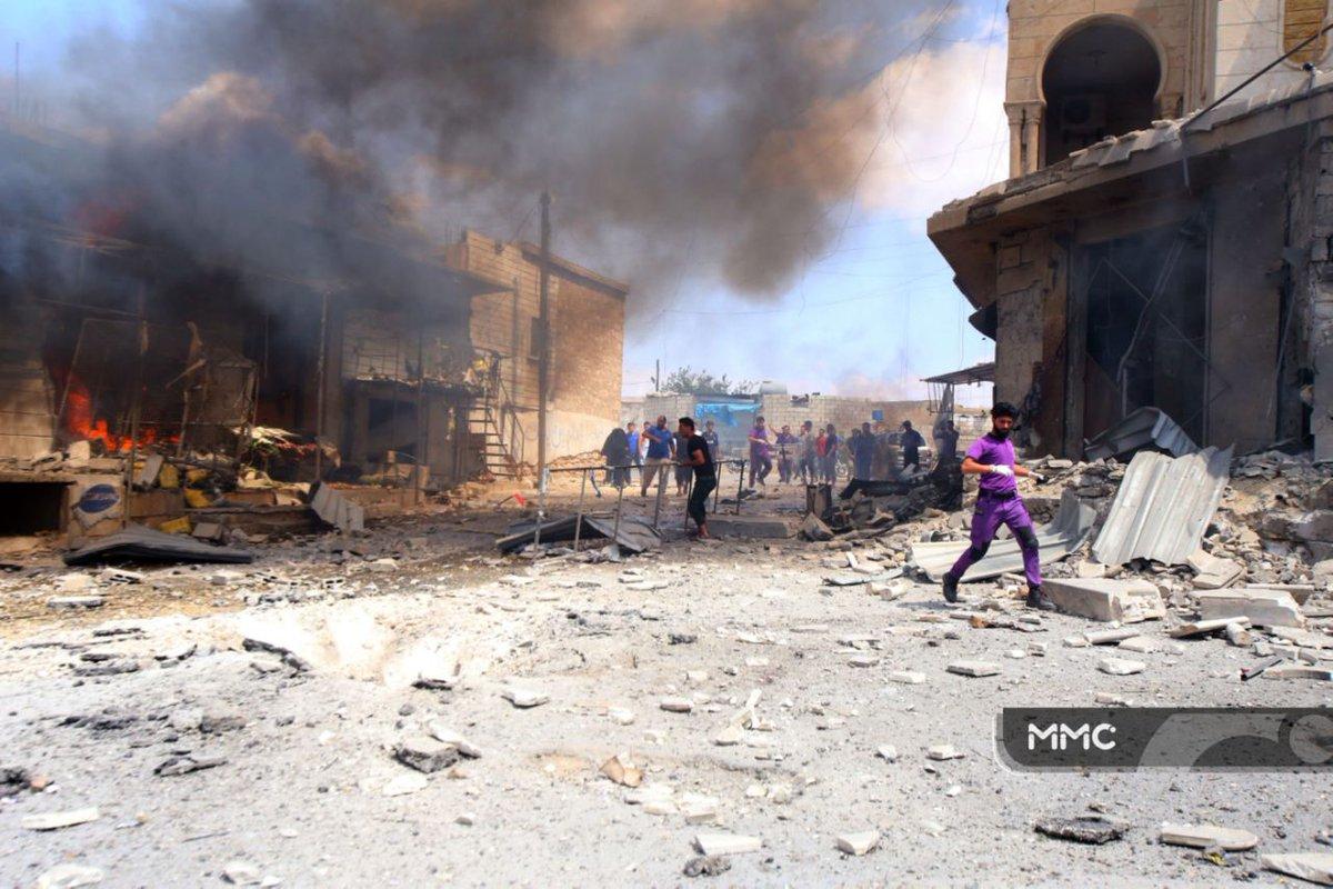 Bombardovanje Ma'r Šurina, Idlib, 16. juli 2019.