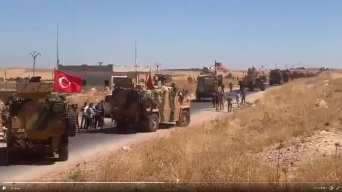 Zajednička tursko-američka patrola u sigurnoj zoni u Siriji
