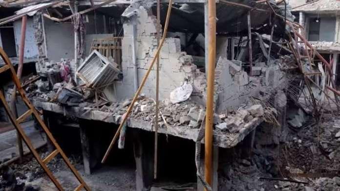 Bolnica u Mosulu u ruševinama