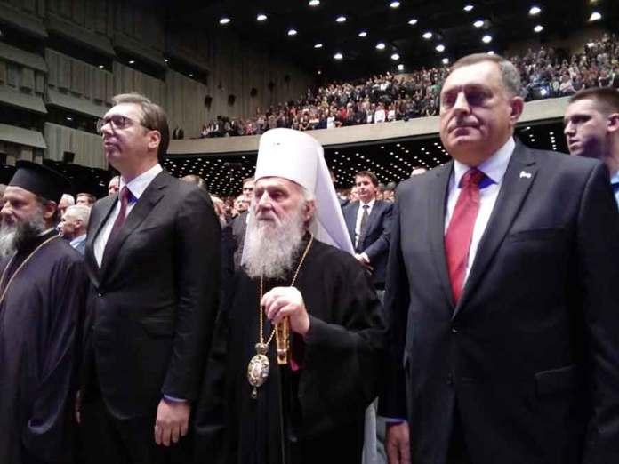 Dodik, Vučić i Irinej