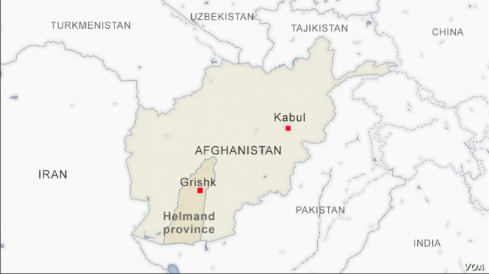 Afganistan mapa Helmand