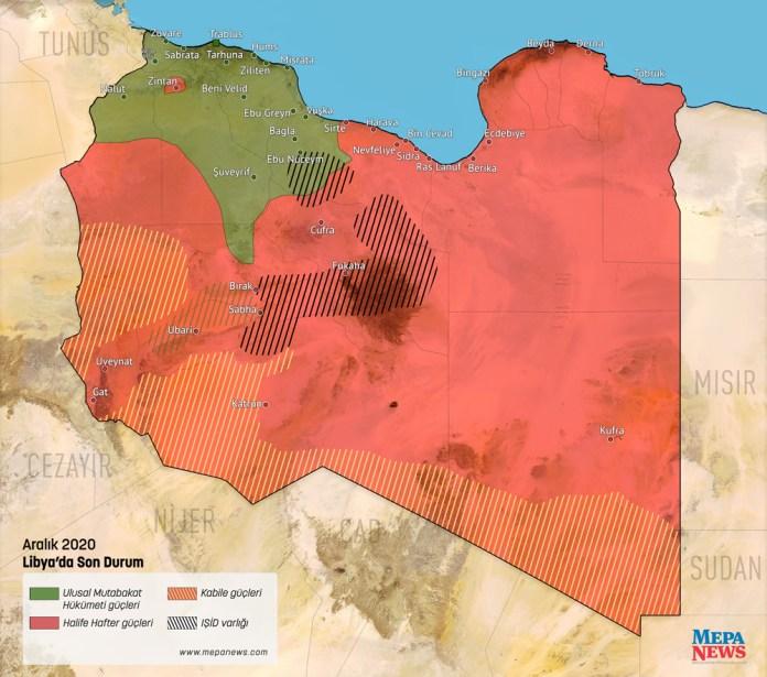 Mapa Libije 2020