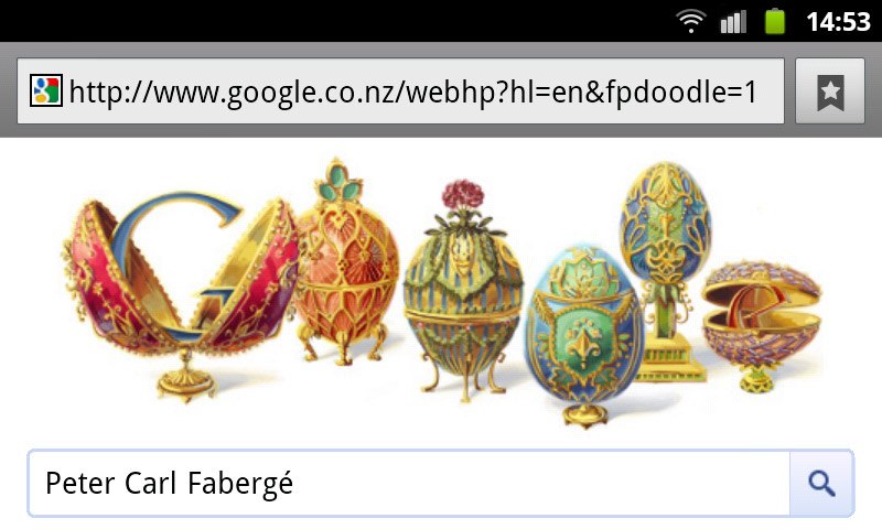 Peter Carl Fabergé - Googe Doodle (mobile Version)