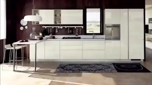 kitchen samples cafe curtains 样品本 腾讯视频 简洁大气厨房样品间