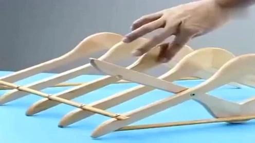 kitchen drying rack japanese knife 晾衣架瞬变纸巾架 腾讯视频 生活小妙招 教你用木制晾衣架 改造成厨房晾
