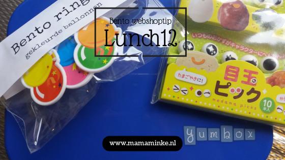 Bentoprikkers, yumboxen en ringen van Lunch12