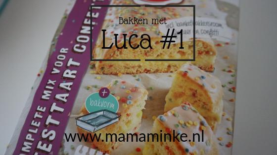 Bakken met Luca #1: feesttaart met confetti