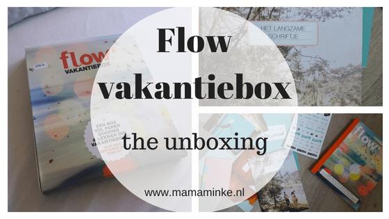 Unboxing flow vakantiebox met de flow en extra paper goodies