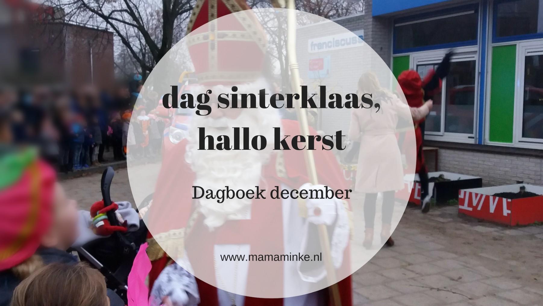 Dagboek: Dag Sinterklaasje, hallo kerst!