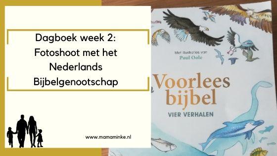 Dagboek week 2 van 2020: fotoshoot Nederlands Bijbelgenootschap