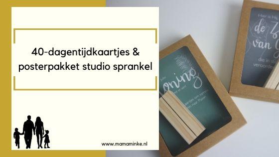 40-dagentijdkaartjes & posterset van Studio Sprankel