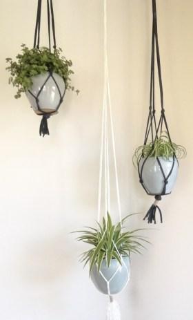 Macramé plantenhanger maken