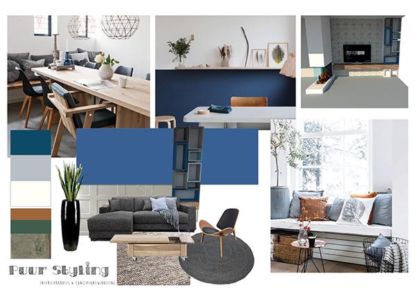 web interieuradvies met blauw modern klassiek