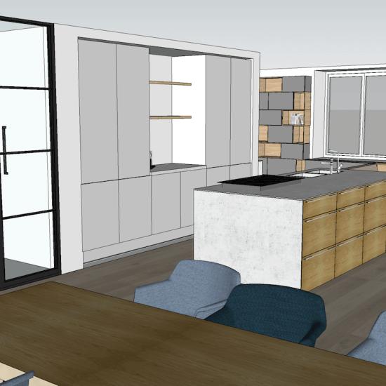 3D interieuradvies penthouse Groningen