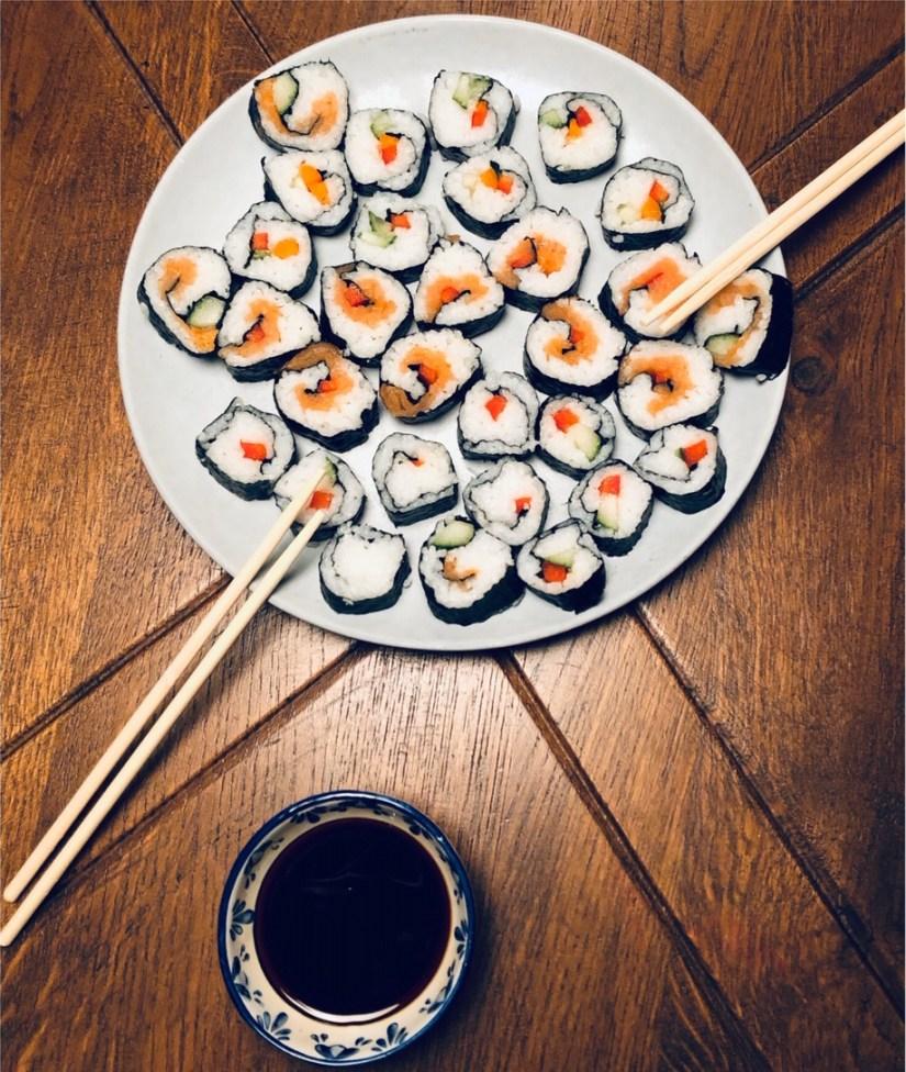 sushi zelf maken meivakantie tips puur van geluk