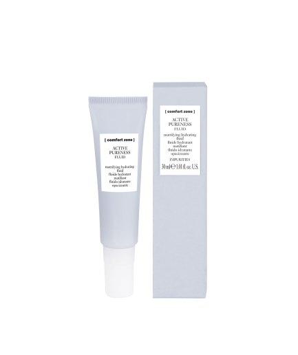 product en verpakking active pureness fluid 30ml [comfort zone] puurwellnessamersfoort