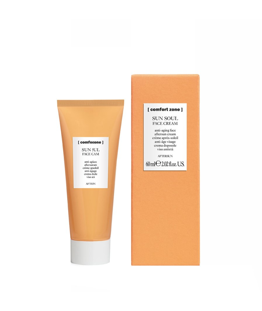 SUN-soul-Aftersun-face-cream-60ml-product-en-verpakking [comfortzone] puurwellnessamersfoort