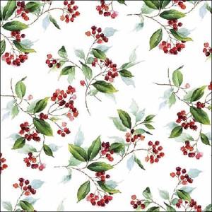 talviset servetit puna-valkoinen