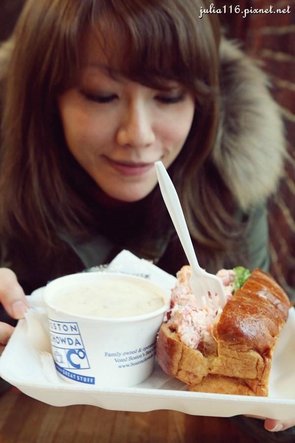 【冬季大蘋果】波士頓昆西市場(Boston Quincy Market)。不吃不可龍蝦堡與巧達濃湯!