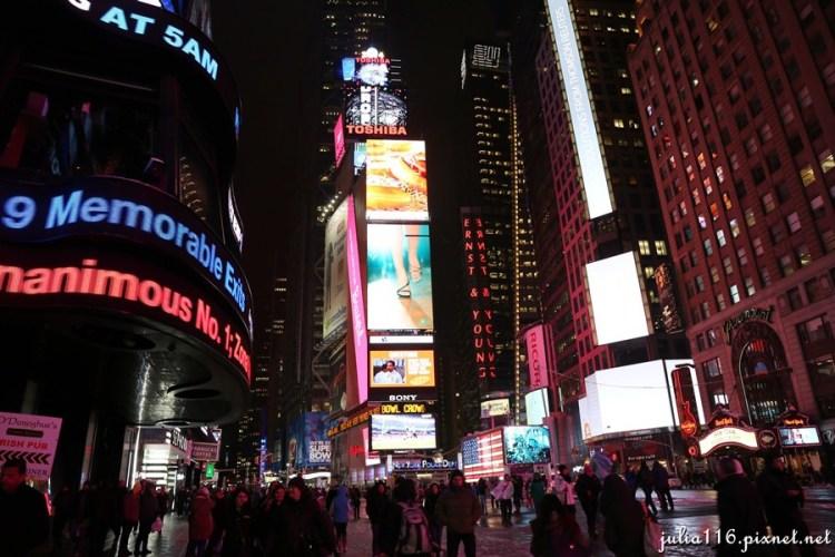【冬季大蘋果】紐約時報廣場(Time Square).世界最繁忙的十字路口!