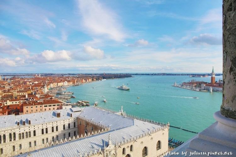 【義大利嘉年華】威尼斯聖馬可鐘樓(Campanile di San Marco).水都浪漫風光盡收眼底(影片)♥