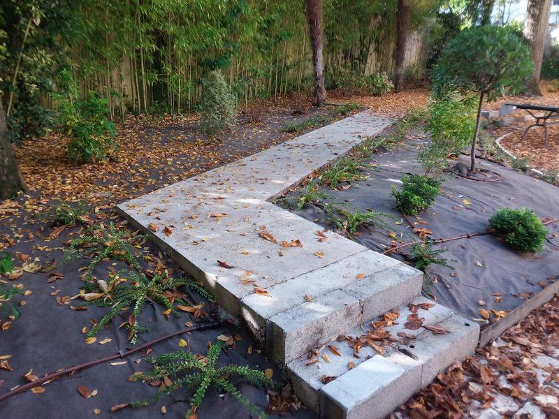 Puyau Paysages-escalier jardin-La Brède