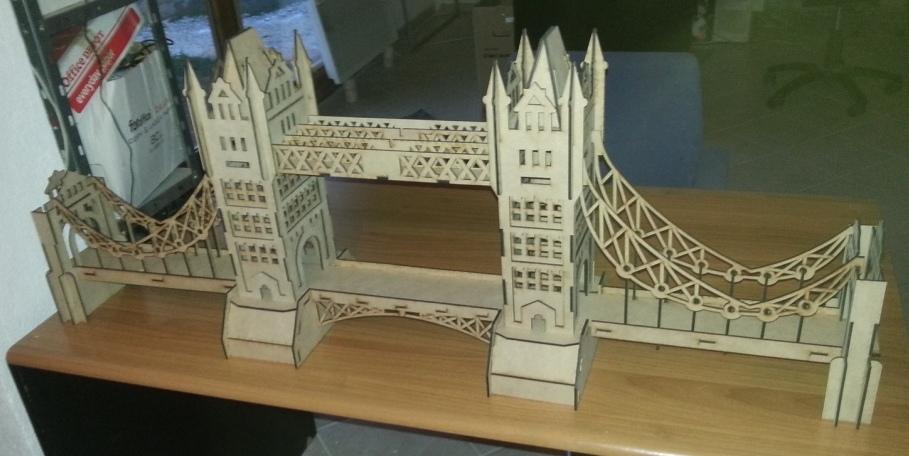 Tower Bridge London 3D  crd dxf psd cpt jpg