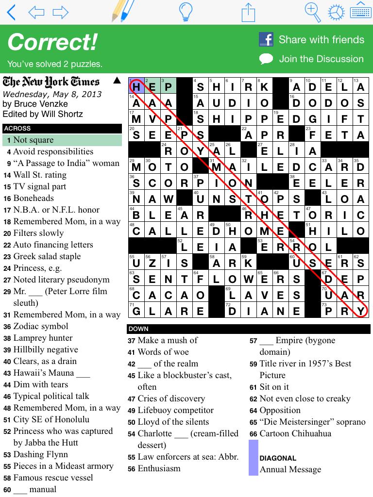 New York Times Online Crossword : times, online, crossword, Puzzazz, Solve, Times, Crossword, Puzzle