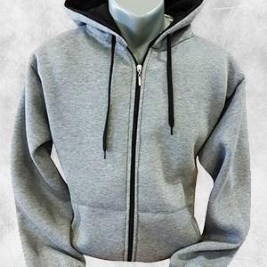 duks jakna tamno siva