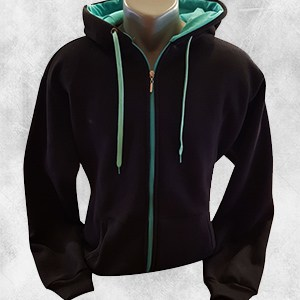 duks jakna crna mint
