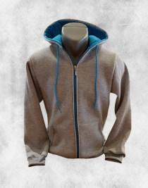 duks jakna svetlo siva tirkiz plava