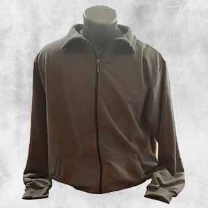 duks jakna tamno siva kragna